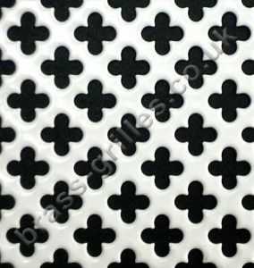Medium Club 10mm White Grille Powder Coated Steel Decorative Sheet 1000mm x 660mm x 1mm